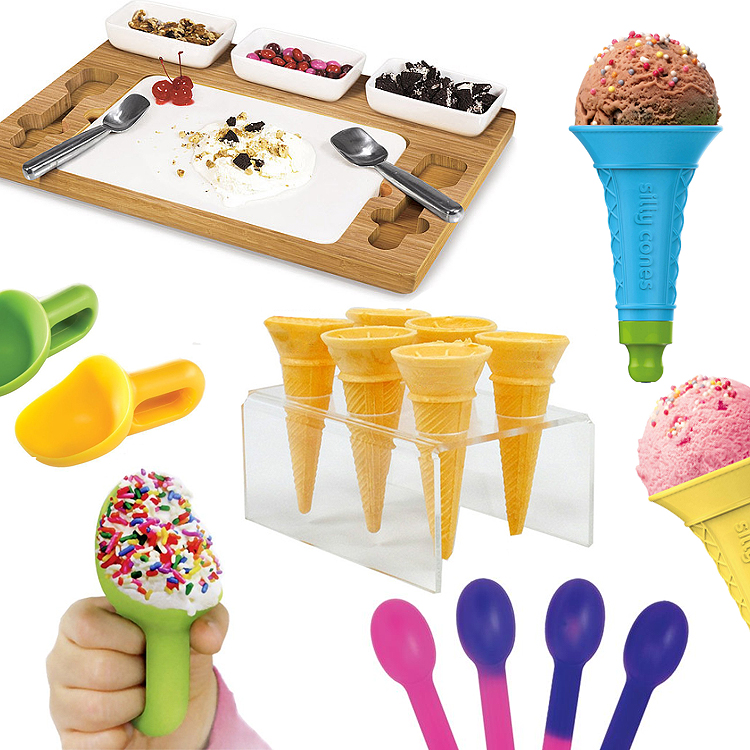 ice_cream_accessories_party_reusable_cone_marble_slab_color_changing_spoons